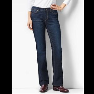 Talbots Flawless Five-Pocket Curvy Bootcut Jeans